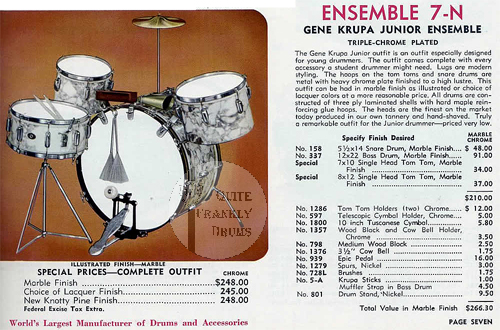 Slingerland Gene Krupa Junior Ensemble 7N Drum Set