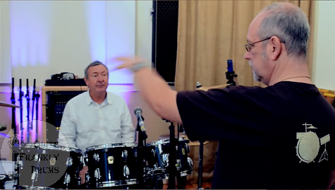 Graham Collins & Nick Mason of Pink Floyd