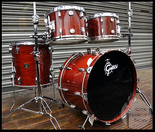 1980's GRETSCH ROSEWOOD DRUM KIT QUITE FRANKLY DRUMS