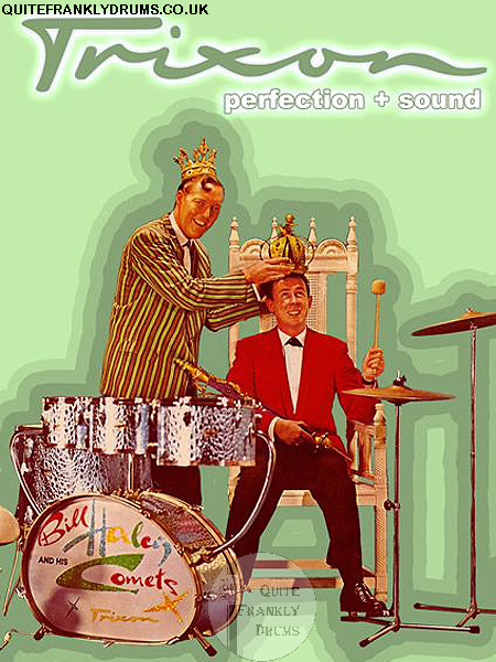 Trixon Speedfire 0/700-3 Drum Set Bill Haley & The Comets Quite Frankly Drums